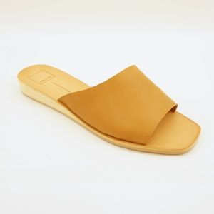 Dolce Vita Leather Demi Wedge Slide Sandals 10